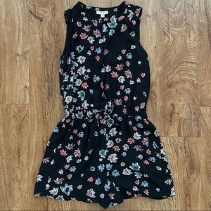 Katherine Barclay Sleeveless Floral Romper Size 2